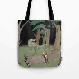 Raptor Trouble Colorized Tote Bag