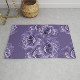 Ultra Violet Peony Flower Bouquet #1 #floral #decor #art #society6 Rug