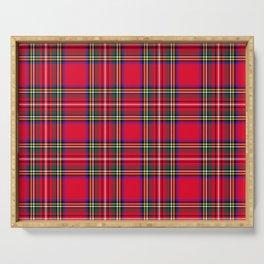Red Plaid Christmas Scottish Tartan Serving Tray