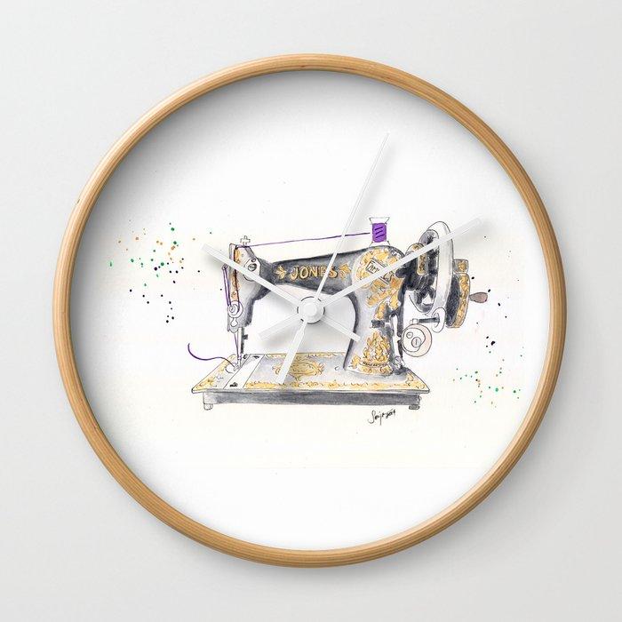 Vintage Jones Handcrank Sewing Machine Wall Clock By Artisania Extraordinary Vintage Hand Crank Sewing Machine