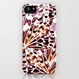 abstract butterflies iPhone Case