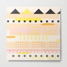 Desert Geometric Pattern Metal Print