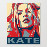 kate moss Canvas Prints featuring Kate moss by Christophe Chiozzi