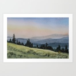 Early Morning in the Mountains Art Print
