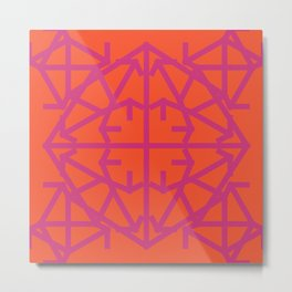 Diamond Bug Pink Yarrow - Flame Metal Print