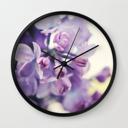 Lilac Buds Wall Clock