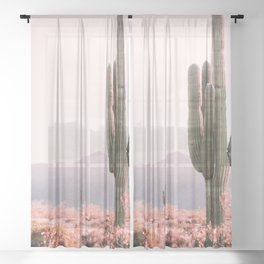 Vintage Cactus Sheer Curtain