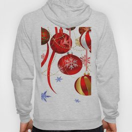 FESTIVE RED CRISTMAS HOLIDAY ART Hoody