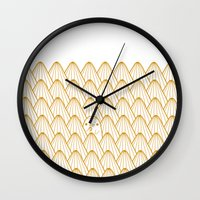 donut Wall Clocks featuring Donut by Jarvis Glasses