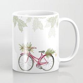 Red Christmas bicycle Coffee Mug