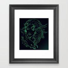 Lady on a Dolphin Framed Art Print