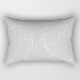 your heart is a muscle the size of your fist Rectangular Pillow