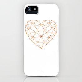 COPPER HEART (WHITE) iPhone Case