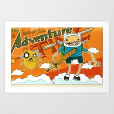 Urbnpop Greetings from Adventure Time Art Print