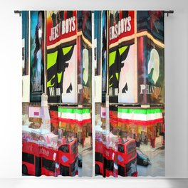 Times Square II (pastel paint style) Blackout Curtain