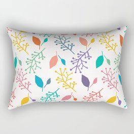Abstract nature leaves cut out shapes. Rectangular Pillow