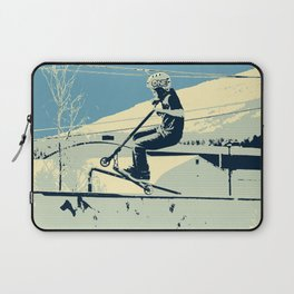 Getting Some Serious Air - Scooter Boy Laptop Sleeve