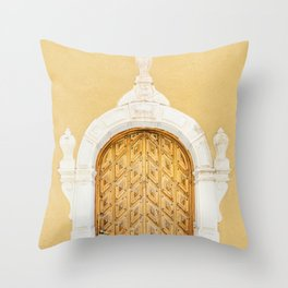 Stockholm Door, Travel Photography Throw Pillow