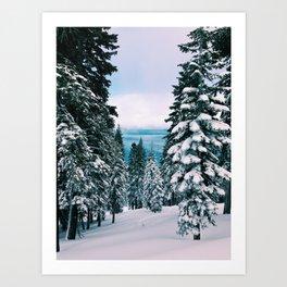 The Lake Beyond The Snow Art Print