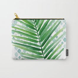 Tropical Palm Frond Watercolor Painting Carry-All Pouch