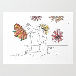Flowering Cambelback Art Print