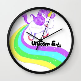 Unicorn Farts Wall Clock