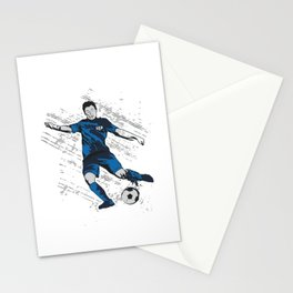 US USA America Hand drawn Soccer Player Futbol product Gift Stationery Cards
