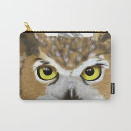 Great Horned Owl & Poly Thoughts Carry-All Pouch