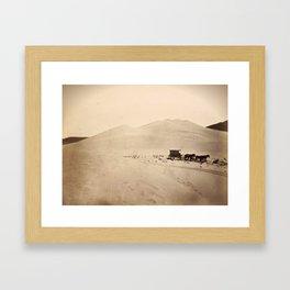 Sand Dunes of the Carson Desert, Nevada Framed Art Print