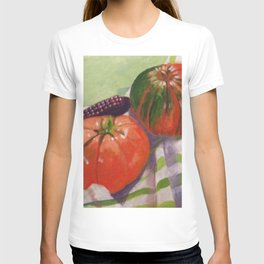 Pumpkin, Tomato and Corn Still Life T-shirt
