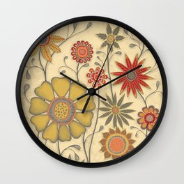 Fall Garden Wall Clock