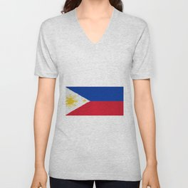 Extruded flag of the Philippines Unisex V-Neck