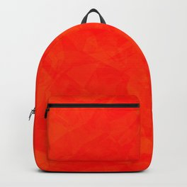Red polygonal background Backpack
