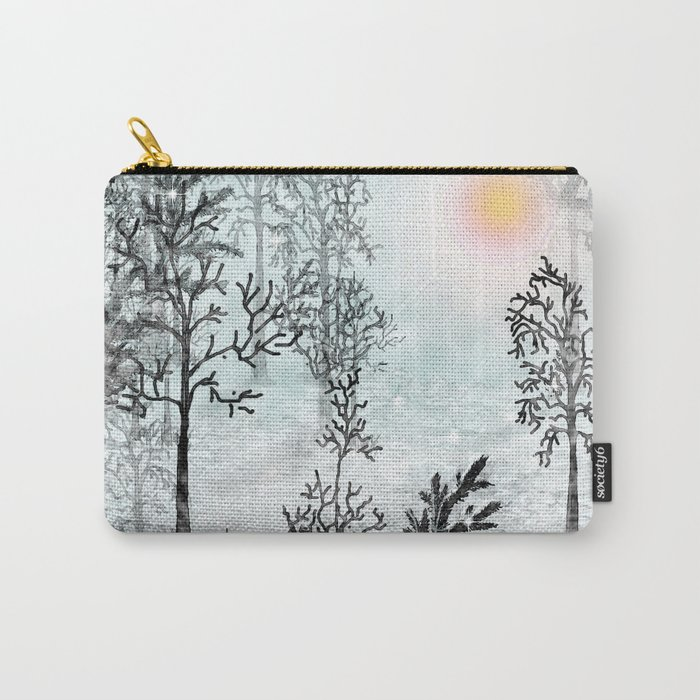 Winter in the woods . Carry-All Pouch