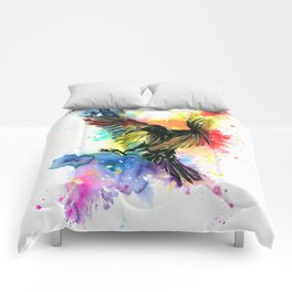 The colourful crow Comforters
