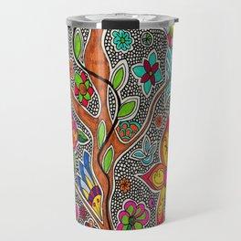 Trees and Flowers zentangle Travel Mug