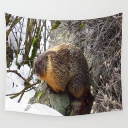 Winter Marmot Wall Tapestry