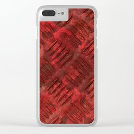 Industrial Red Metal Clear iPhone Case