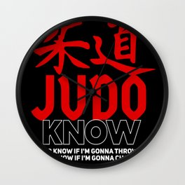 Judo Know Wall Clock