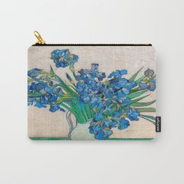 Irises by Vincent van Gogh Oil Painting Still Life Floral Arrangement In Vase Carry-All Pouch