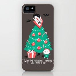 Return of the Christmas Vampire iPhone Case