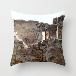 Pompeii Ancient Dwelling - 1 Throw Pillow