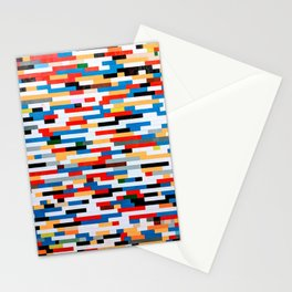 Multicolored Bright Building Bricks Pattern  Stationery Cards