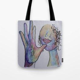 ASL Mother in Denim Colors Tote Bag
