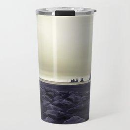 Dark beach Travel Mug