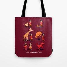 Please Keep Pets on a Leash Tote Bag