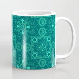 Retro .Vintage . Turquoise openwork ornament . Coffee Mug