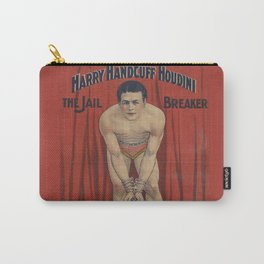 Harry Handcuff Houdini Magician Vintage Poster Carry-All Pouch
