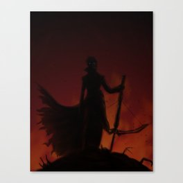 On a Mountain of Corpses Canvas Print