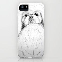 Cartoon Pekingese Dog iPhone Case